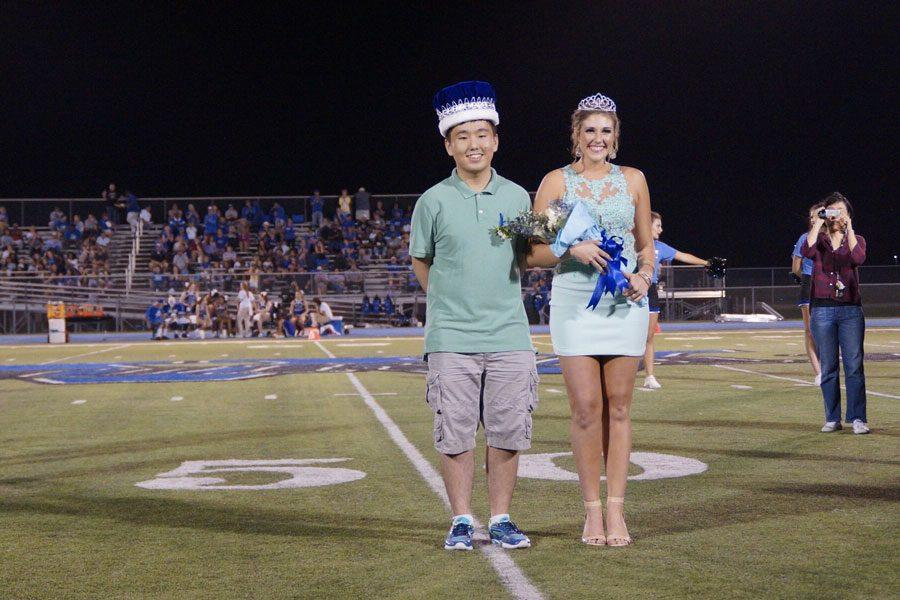 Seniors Hyung Ju Nam and Ellie Keating were crowned Homecoming king and queen on Sept. 23.