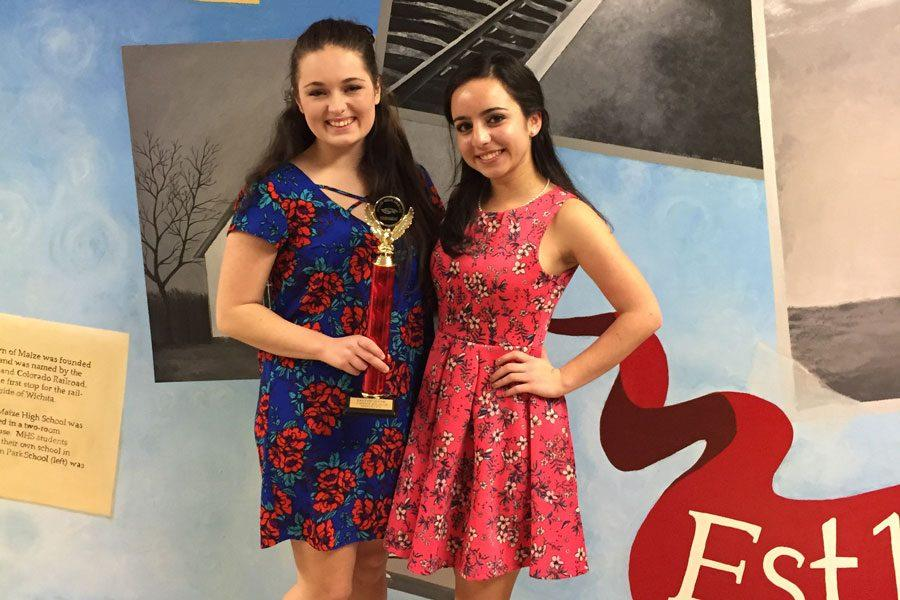 Seniors Hailey Robertson and Serena Peter placed first at a tournament at Maize on Dec. 3.