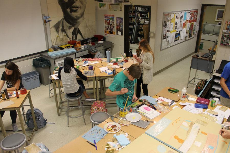 Students participated in an art lock-in with guest artist Todd Greene on Feb. 10.