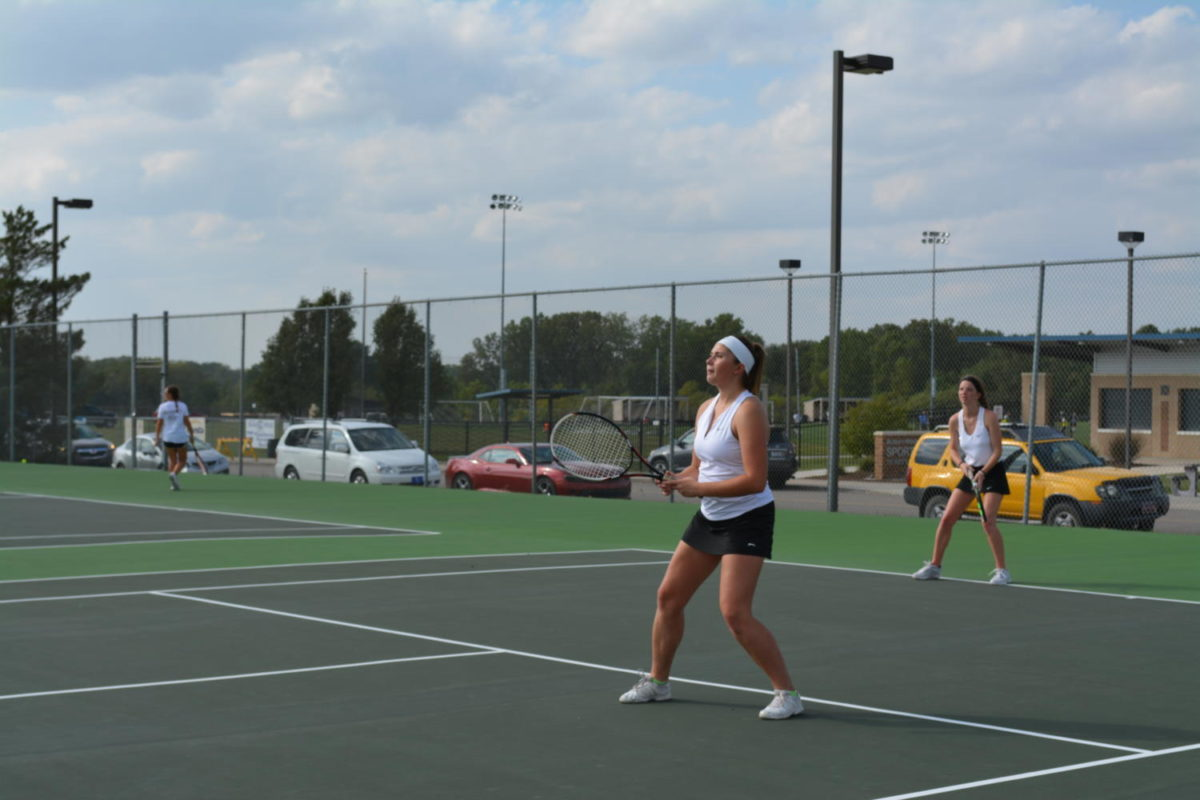 Tennis court addition