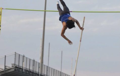Senior breaks pole vault record