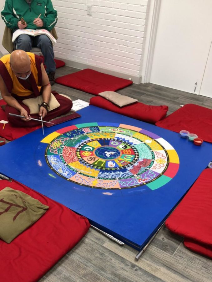 Tibetan Monks Travel To Display Art