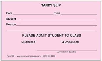 Updated Tardy Policy
