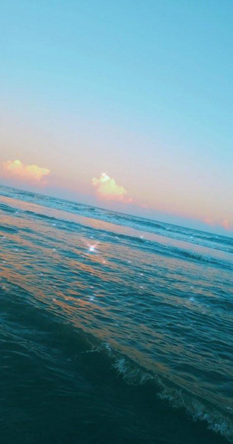 A photo of the ocean while on Foley beach